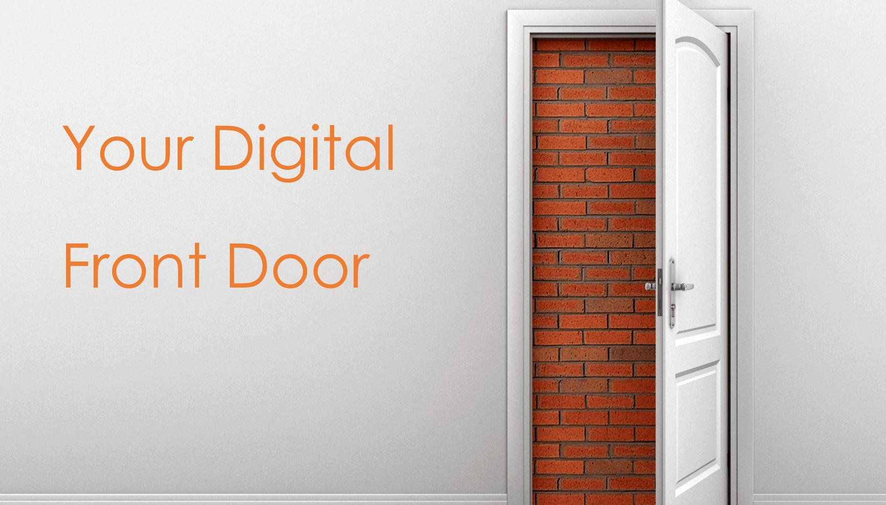 Front door opens to a brick wall